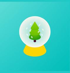 glass ball christmas tree concept vector image