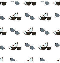 Glasses and spectacles pattern vector