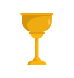 gold cup jewish icon flat style vector image