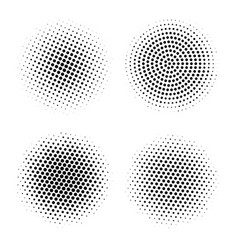 halftone circles abstract dotted round vector image