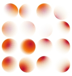 Halftone circles set EPS 10 vector