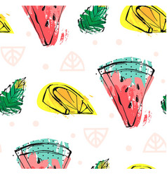 hand drawn abstract cute funny summer time vector image vector image