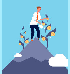 Investment concept businessman growth money vector