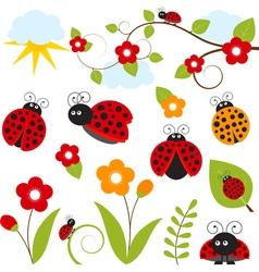 Ladybug Set vector