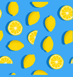 lemons background seamless pattern with fresh vector image