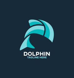 Modern abstract dolphin logo vector