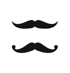 mustache icon logo template vector image
