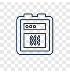 oven concept linear icon isolated on transparent vector image
