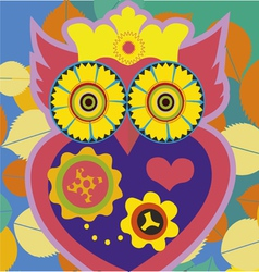 owl queen poster vector image