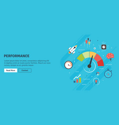 performance and efficiency growth in business vector image