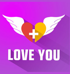 purple valentines day background vector image