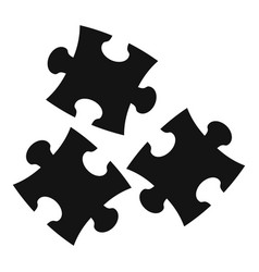 Puzzle icon simple style vector