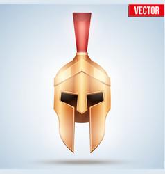 realistic spartan helmet vector image