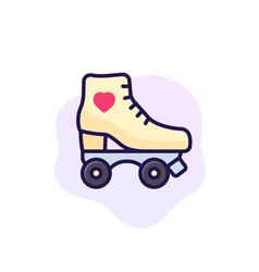 Roller skates icon art vector