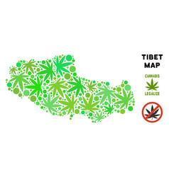 Royalty free marijuana leaves mosaic tibet chinese vector