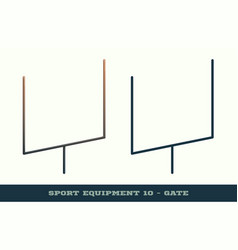 Rugby gate icon game equipment professional sport vector