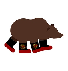 Russian Bear in boots Russian National animal vector image vector image