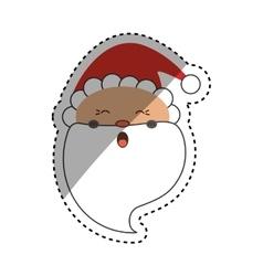 Santa claus xmas cartoon vector image
