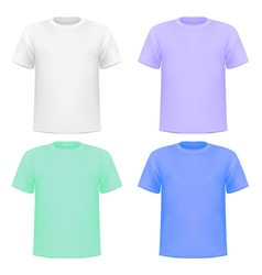 set of colorful knitted shirts vector image