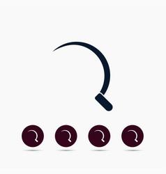 sickle icon simple gardening element symbol vector image