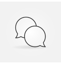 Speech bubble linear logo vector image