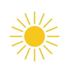 Sun icon Light sign with sunbeams yellow element vector image