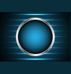technology future silver metal circle light stripe vector image