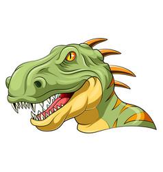 Velociraptor head mascot vector