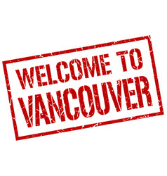 welcome to vancouver stamp vector image