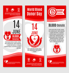 world donor day blood donation banners vector image