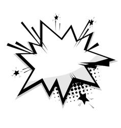 Blank template comic speech balloon star vector image vector image