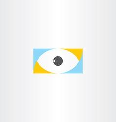 humal eye logo sign element icon vector image