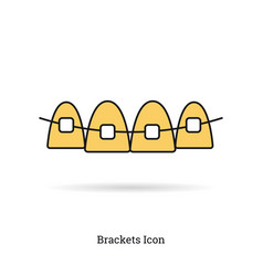 linear isolated icon - braces icon vector image vector image