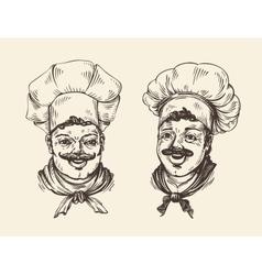Portrait of happy chef Element for design menu vector image vector image