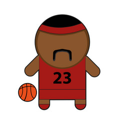profession character basketball player vector image