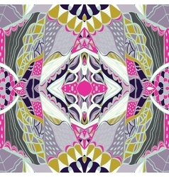 Traditional ornamental paisley bandanna Pink vector image