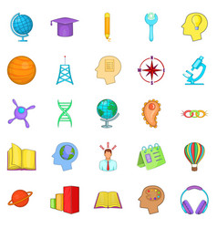 volume icons set cartoon style vector image vector image