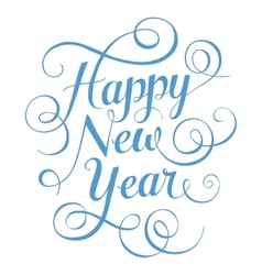 Blue lettering Happy New Year for greeting card on vector image vector image