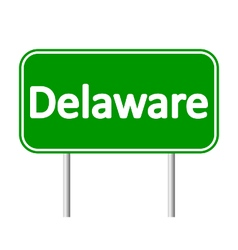 Delaware green road sign vector