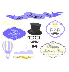 elements for greeting cards and posters happy vector image vector image