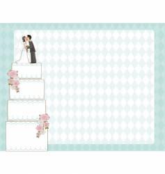 wedding cake invite vector image vector image