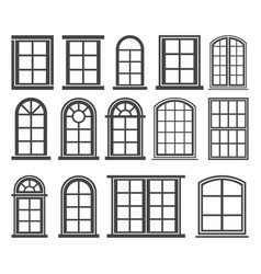 window icon set symbol vector image vector image