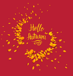autumn red background vector image vector image