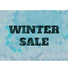 background with winter sale text Low poly vector image
