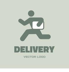 Delivery man - logo concept vector image vector image