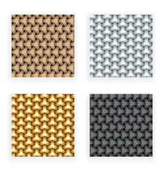 metal gold silver copper seamless patterns set vector image vector image