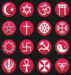 religion symbol icon gradient style vector image vector image