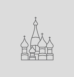 Saint Basil s Cathedra vector image vector image