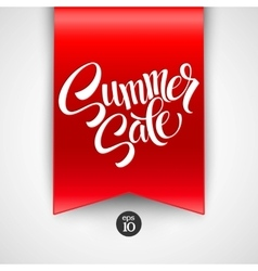 Summer sale Ribbon label vector image vector image