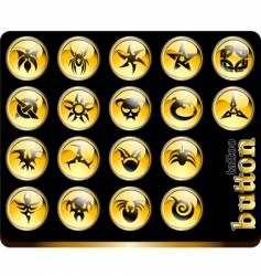 tattoo buttons vector image vector image